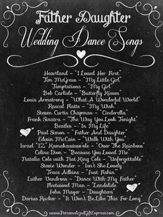 Daddy-Daughter Dance Songs