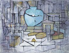 Stilleven met gemberpot II (1912) Piet Mondriaan