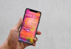 Free IPhone X Mockup PSD in Hand. Use the PSD file's smart layer to insert your own display content; you may also change the background.