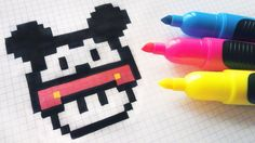 Handmade Pixel Art - How To Draw a Mushroom Mickey Mouse Pixel Pattern, Pattern Art, Pixel Art Champignon, Square Drawing, Easy Pixel Art, Modele Pixel Art, Pixel Drawing, Anime Pixel Art, Art Perle