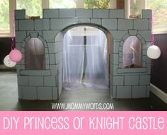 DIY Cardboard Castle. The things I needed when I was a kid. And yet sheets and pillows worked just fine