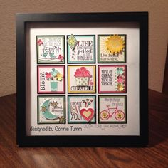 Card making, stamping, stampin up, papercrafts, handmade cards Box Frame Art, Shadow Box Frames, Box Art, Paper Art, Paper Crafts, Diy Crafts, Paper Collages, Inchies, Collage Frames
