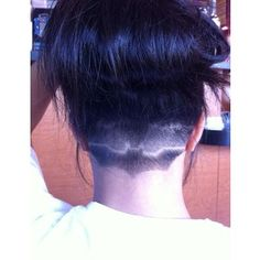 Batman undercut. Not my style at all but I thought it was kinda cool. Pinterest: mishiixoxo