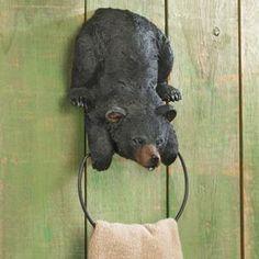 Playful Cub Towel Ring - Black Forest Decor