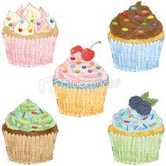 Cupcakes Royalty Free Stock Vector Art Illustration