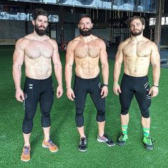 3 bearded dudes with muscle!