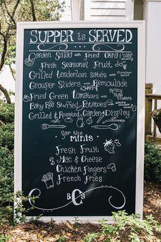 menu chalkboard | Vue Photography #wedding