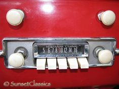Push button car radio. You pulled the button out to set the station. We drove really old cars lol