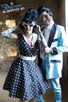 #zombies #rockabilly #halloween #kostüme #costumes #makeup