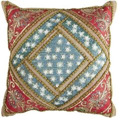 Gypsy Interior Design-Dress My Wagon| Serafini Amelia| Summer Bloom Sari Medallion Pillow