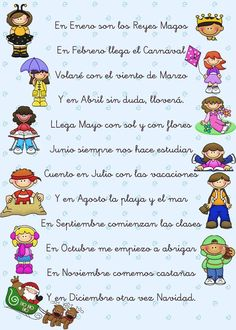 Poema con los meses - a poem to learn Spanish vocabulary for months If you find this info graphic useful, please share, like or pin it for your friends. Bilingual Classroom, Bilingual Education, Spanish Classroom, Baby Education, Spanish Teaching Resources, Spanish Activities, Spanish Lesson Plans, Spanish Lessons, Months In Spanish