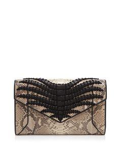 Yliana Yepez Scarlett Embellished Python Shoulder Bag