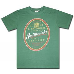 Smithwick's Classic Logo Green T Shirt. Official from Smithwick's!