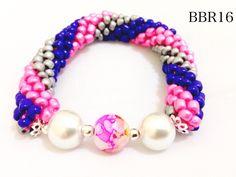 blue, white & pink