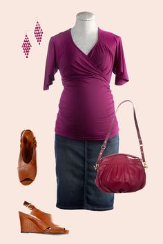 The 4 pregnancy body types and how to dress them | BabyCenter - if you're carrying low