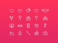 This Valentines. designed by Ayesha Rana. Connect with them on Dribbble; the global community for designers and creative professionals. Line Icon, Valentines, Math, Creative, Inspiration, Design, Valentine's Day Diy, Biblical Inspiration, Valentines Day