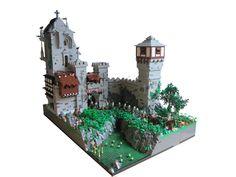 Minecraft Medieval, Medieval Castle, Chateau Lego, Cool Lego, Awesome Lego, Lego Knights, Step On A Lego, Lego Moc, Lego Lego