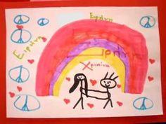 Το τραγούδι της φιλίας Greek Language, Peace And Love, Bullying, Friendship, Snoopy, Activities, Learning, Fictional Characters, Winter