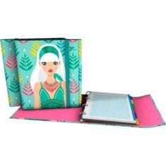 """CarpePlús Archivador de la nueva colección Noa 2017 en su serie """"Hojas"""".  #papeleria #materialescolar #materialdeoficina #Grafoplás #diseño #verde #chica"""