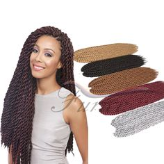 Aliexpress.com : Buy Havana Mambo Twist Crochet Pretwist Hair Havana Twist Crochet Braids Afro Extension hair for senegalese twist Beauty from Reliable hair coloring color wheel suppliers on crochet braiding hair extension Store Havana Braids, Havana Mambo Twist Crochet, Braid In Hair Extensions, Hair Coloring, Crochet Braids, Braided Hairstyles, Afro, Store, Beauty