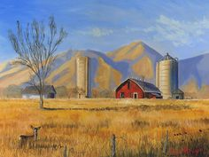 old farm images | Old Vineyard Dairy Farm Painting - Old Vineyard Dairy Farm Fine Art ...
