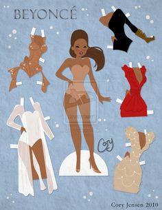 Beyonce Paper Doll