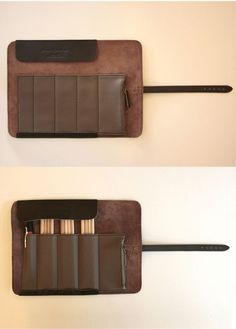 Cplay Sevenroll Leather Pencil Case. I really like this design, and it looks great (though I'd like it without the marbling on the outside). I get unreasonably excited about writing, and I'd love to have a suitable case to hold my pens/pencils.