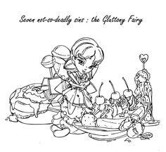 The Gluttony Fairy by JadeDragonne.deviantart.com on @deviantART