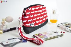 Red Mustaches Wristlet Clutch
