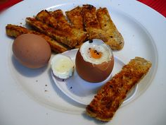 Boiled eggs and soldiers ...... for brekkie