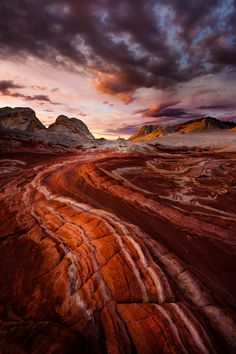 Fire in the Valley ~ Page~ Arizona ~ White Pocket (by Dan Ballard Photography)