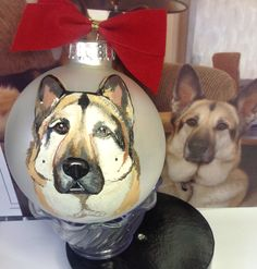 www.cyndiewade.com Christmas Animals, Custom Paint, Husky, Christmas Ornaments, Pets, Painting, Xmas Ornaments, Animals And Pets, Christmas Jewelry