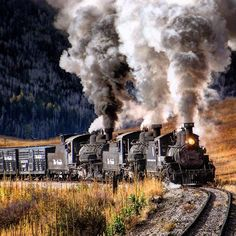 Thank you David Bowyer for posting this incredible shot of a Triple Header. Remember, you can ride the Cumbres & Toltec for free just by donating a toy and a nonperishable food item on Dec. 5-6 from Antonito, CO and Dec. 12-13 from Chama, NM. Make reservations at www.cumbrestoltec.com Cumbres & Toltec Scenic Railroad