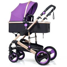 2 in 1 Baby Stroller Luxury Pram Carriage With Shocks (Bassinet, Stroller) – Maternity Miracles - Mom & Baby Gifts