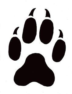 Wildlife Stencils Free | Paw Prints Template Free Printable Animal Print Stencil Patterns