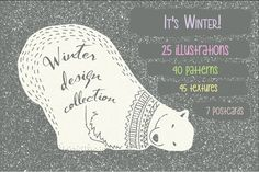 Winter collection by Julia Dreams on @creativemarket