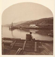 Sausalito from the N.P.C.R.R. Wharf, Looking South; Eadweard Muybridge (1830-1904), c. 1868