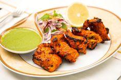 Grilled Chicken Tikka A popular Indian chicken starter/appetizer dish.