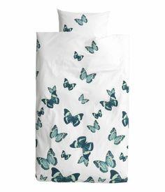 H Bettwäsche  / Eur 19,95 Bettwäsche aus feinfädiger Baumwollqualität mit Schmetterlingen