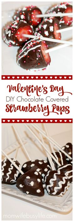 Chocolate Covered Strawberry Pops | DIY Chocolate Covered Strawberries | Valentine's Day Gifts
