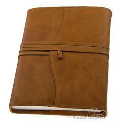 Topkwaliteit navulbaar leren notitieboek van heerlijk zacht Italiaans kalfsleer in A5 formaat.