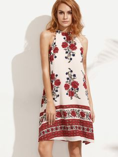 Shop Floral Print Sleeveless Shift Dress online. SheIn offers Floral Print Sleeveless Shift Dress & more to fit your fashionable needs.