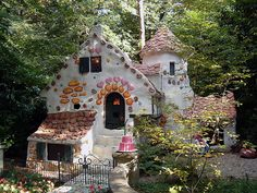 Hansel and Gretel house in the Efteling, a fairy tale themepark in the Netherlands