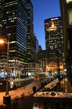 NYC buildings, lights @Park Central Hotel New York @Buildings On Pinterest #nyc #architecture