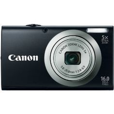 Canon PowerShot A2300 IS 16.0 MP Digital Camera with 5x Digital Image Stabilized Zoom 28mm Wide-Angle Lens with 720p HD Video Recording (Black): Camera & Photo