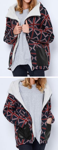 Warm up with $46.99 Only &free shipping! This printed hooded coat detailed with side pockets, high low hem&zip closure is so perfect for this cold weather! Make it yours at Cupshe.com