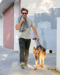 Jake Gyllenhaal Photos - Jake Gyllenhaal Walks His Dog - Zimbio