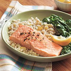 Healthy Poached Salmon...$5.38 a serving