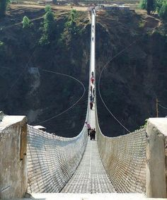 Kusma-Gyad Bridge, Nepal. ~via Amazing Things in the World, FB