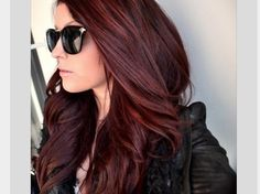 45 Shades of Burgundy Hair: Dark Burgundy, Maroon, Burgundy with Red, Purple and Brown Highlights Red Hair red brown hair color Dark Red Hair With Brown, Red Brown Hair Color, Dark Brown, Red Purple, Color Red, Auburn Brown, Red Burgundy, Red Ombre, Cherry Brown